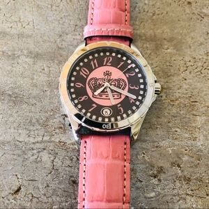 ♥️ Juicy Couture ♥️ Pink Leather Crown Watch